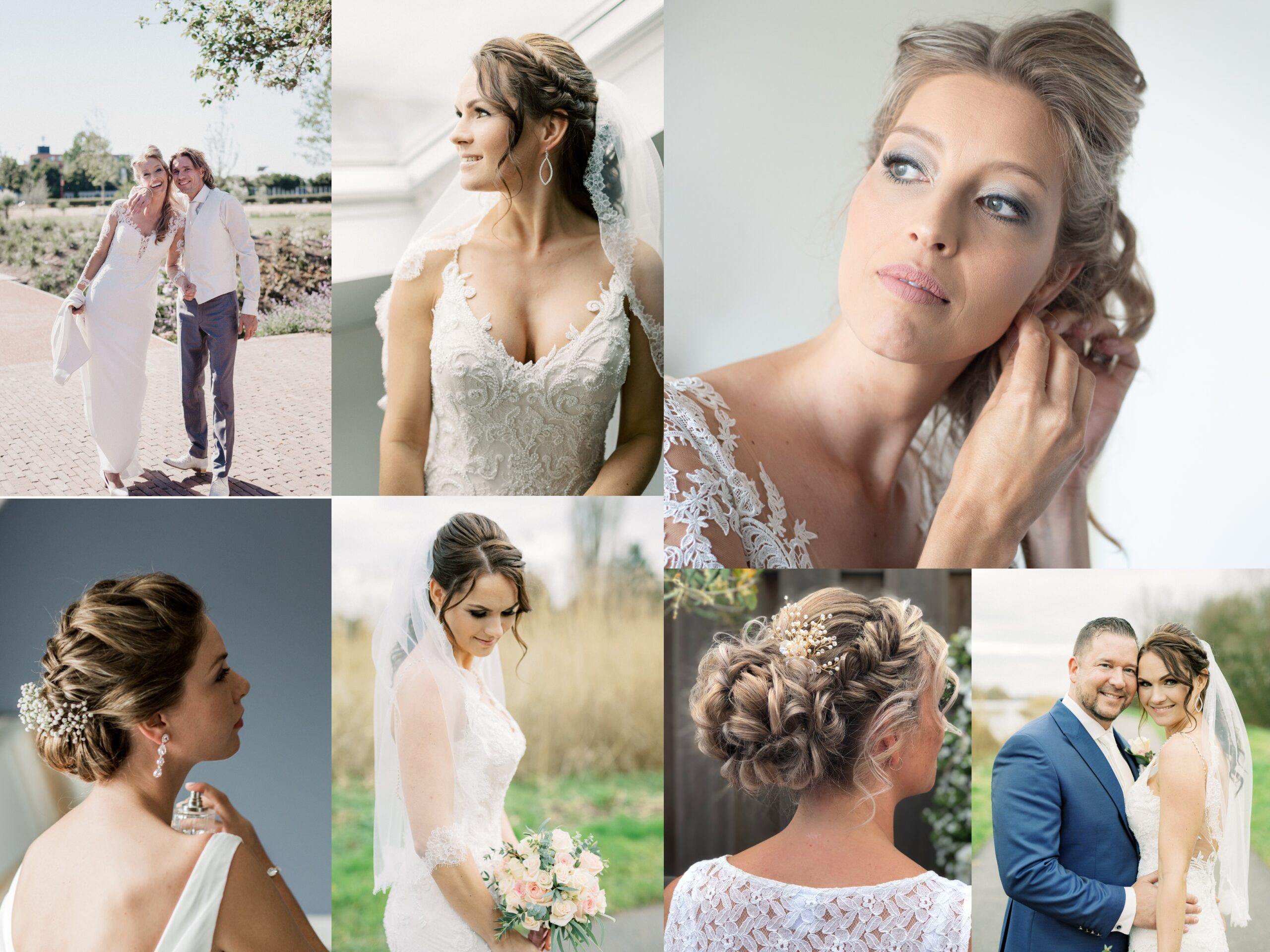Bruidskapsel Bruidsmake-up