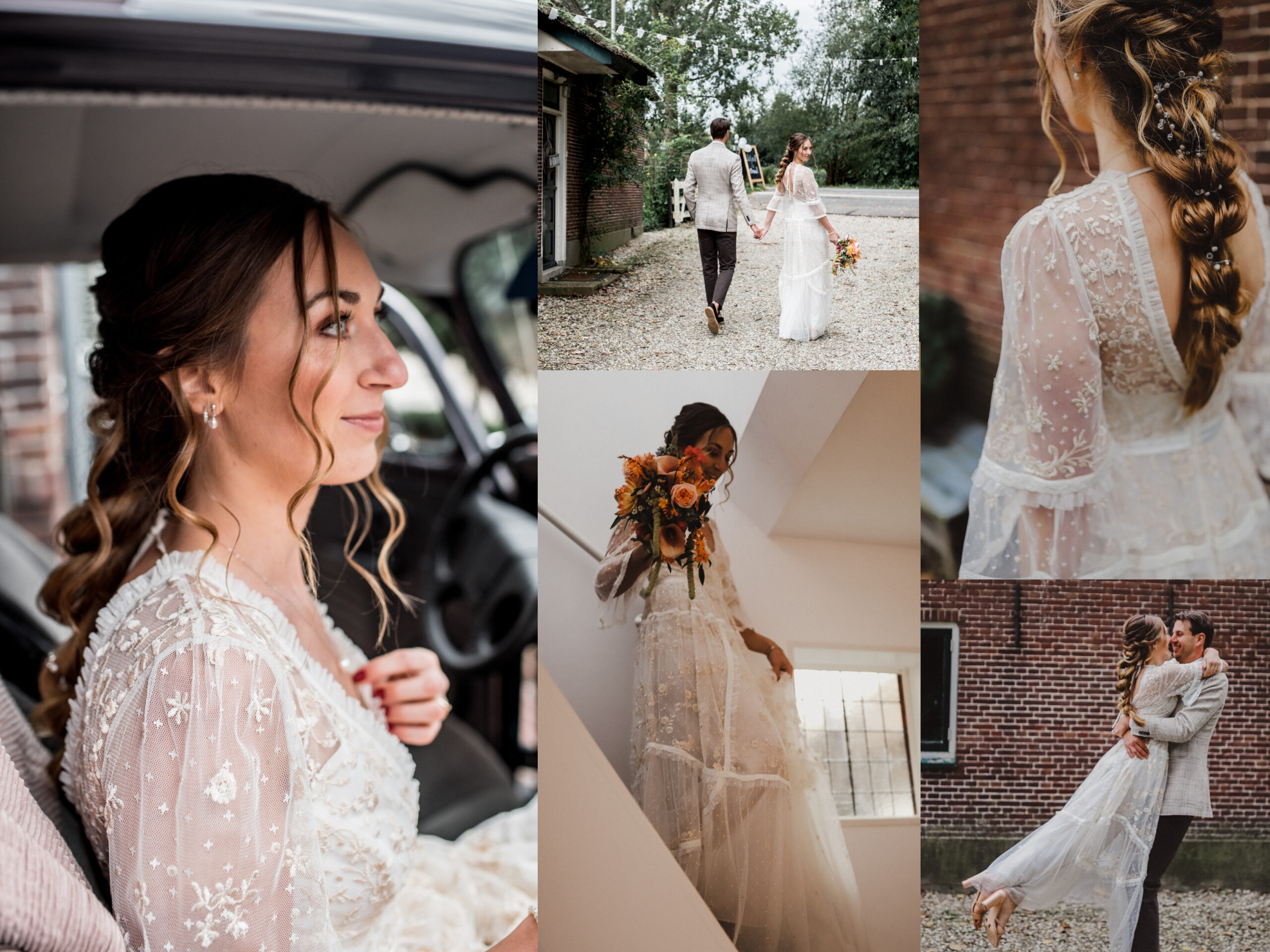 bruidskapsels en bruidsmakeup